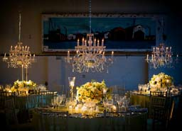 Chandeliers in weddings