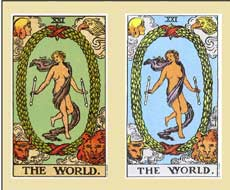 Judgement and World Tarrot card