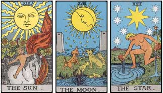 Sun Moon Star Tarrot Card