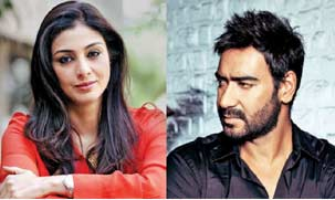 Tabu and Ajay Devgan