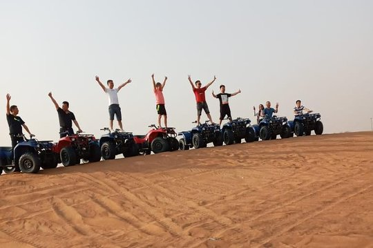 Morning Desert Safari with Sand Boarding by Arabian Expedition